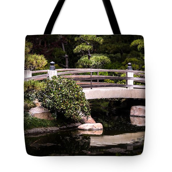 Garden Bridge Tote Bag by Ed Clark