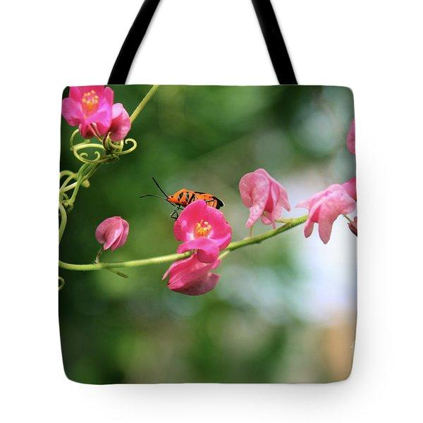 Tote Bag featuring the photograph Garden Bug by Megan Dirsa-DuBois