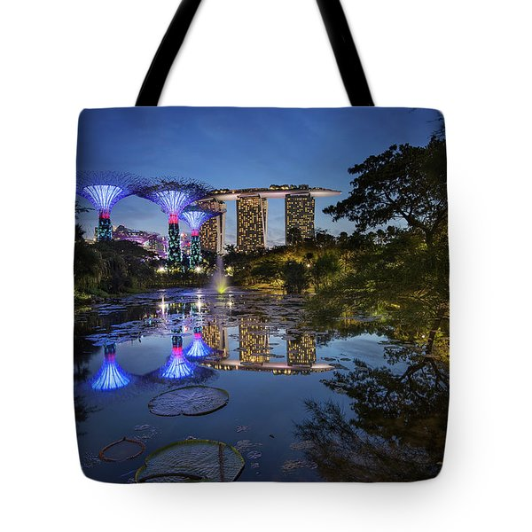 Tote Bag featuring the photograph Garden By The Bay, Singapore by Pradeep Raja Prints