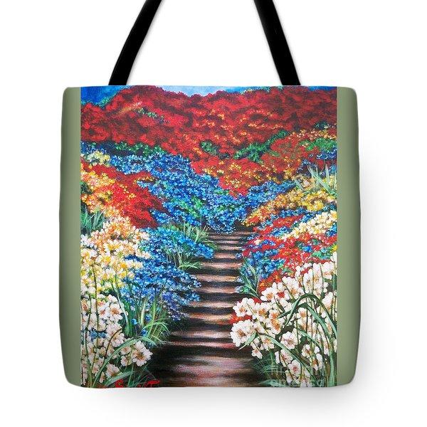 Flying Lamb Productions              Redwhiteandblue   Garden Cascade Tote Bag