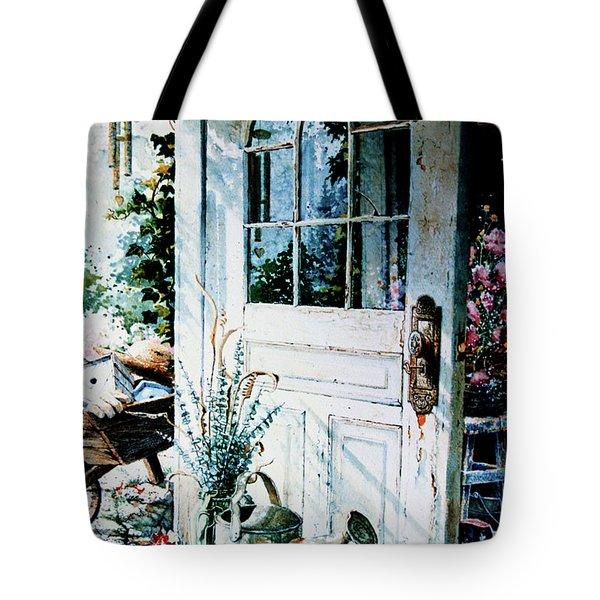Garden Chores Tote Bag by Hanne Lore Koehler
