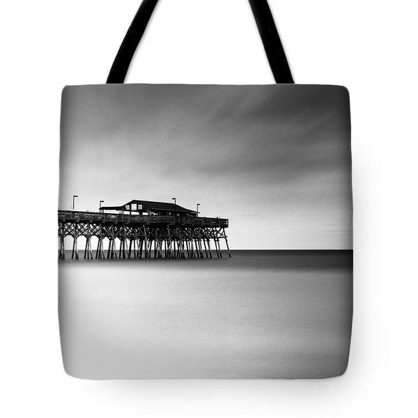 Garden City Pier Bw I Tote Bag