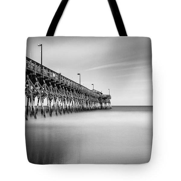 Garden City Pier Bw II Tote Bag