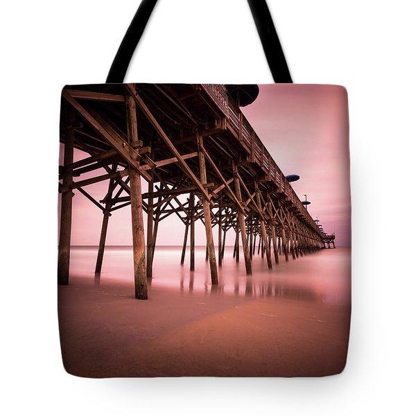 Garden City Pier June Sunset Tote Bag