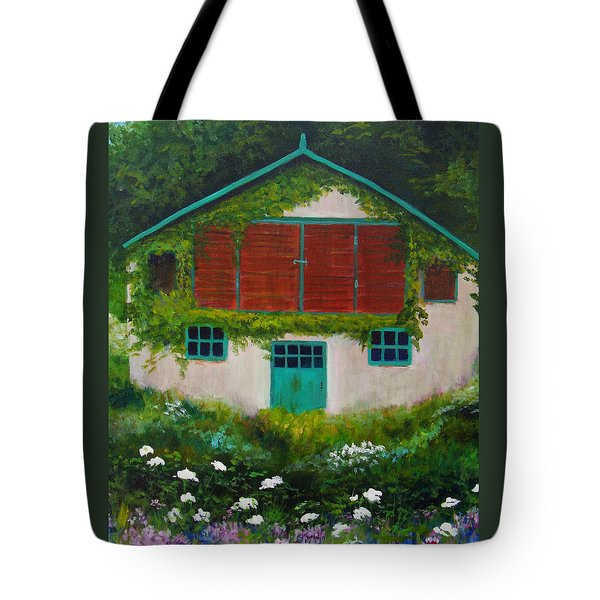 Garden Cottage Tote Bag