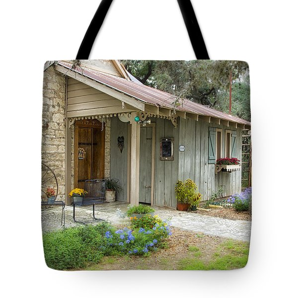 Garden Cottage Tote Bag by Kathy Adams Clark