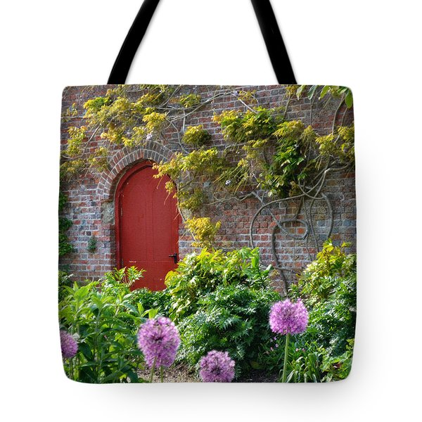 Garden Door - Paint With Canvas Texture Tote Bag