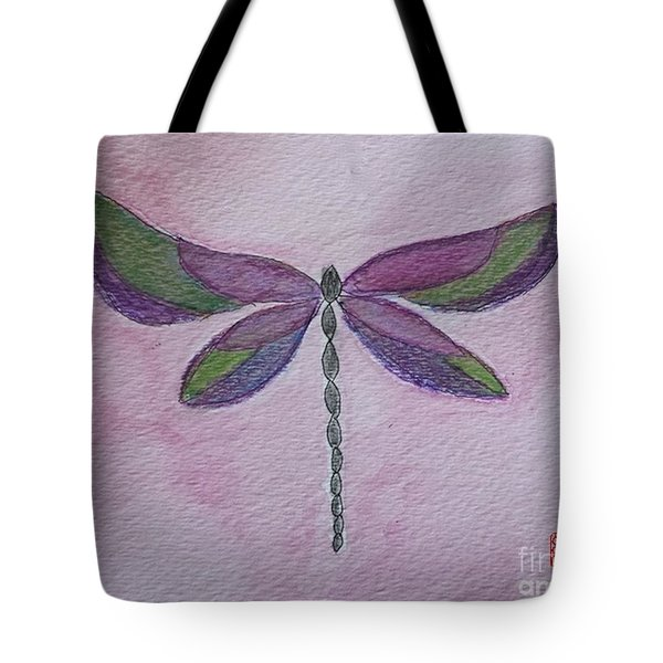 Garden Dragonfly Tote Bag