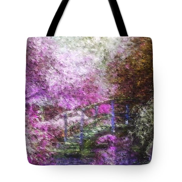 Tote Bag featuring the painting Garden Dream by Mark Taylor