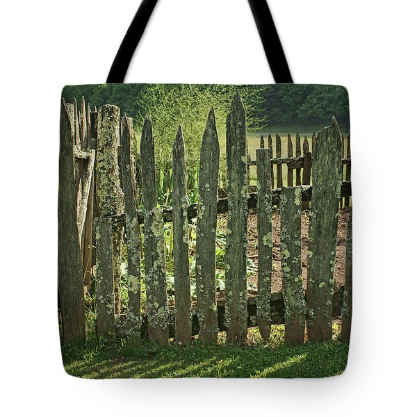 Tote Bag featuring the photograph Garden - Fence by Nikolyn McDonald