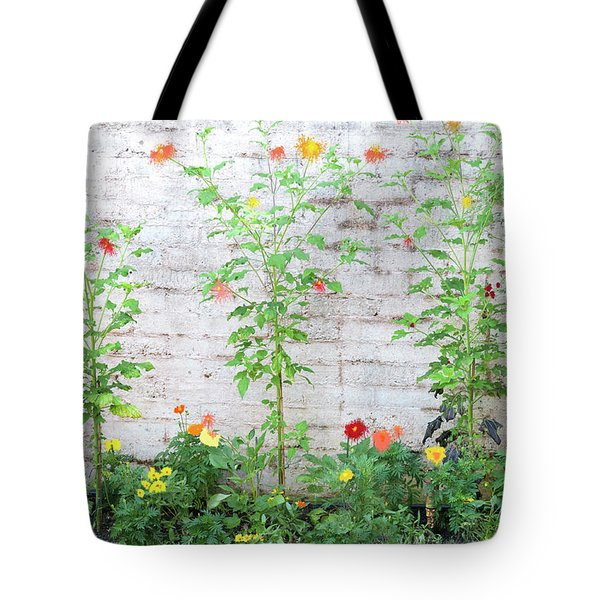 Garden Florals Tote Bag by Carolyn Dalessandro