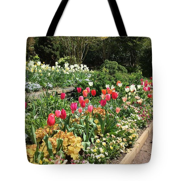 Garden Flowers Tote Bag by Kay Gilley