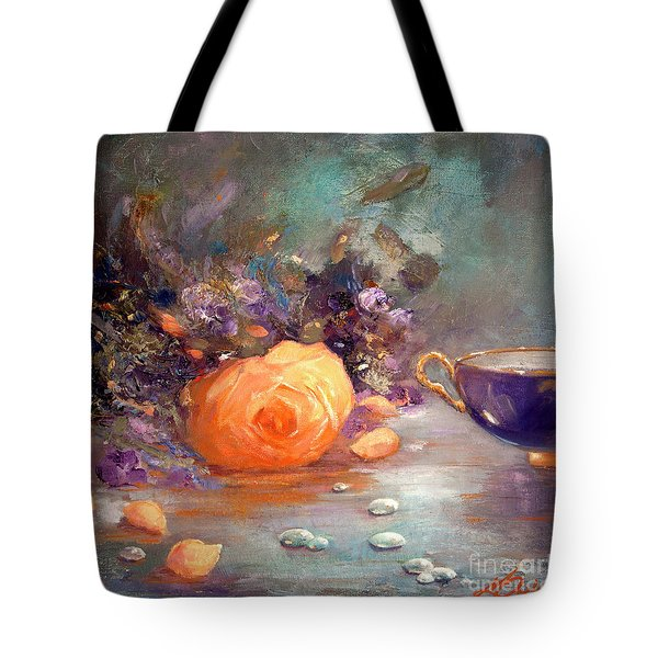 Garden Flowers Tote Bag by Michael Rock