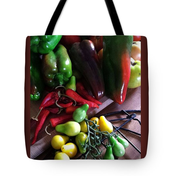 Tote Bag featuring the photograph Garden Fresh Produce by Deb Martin-Webster