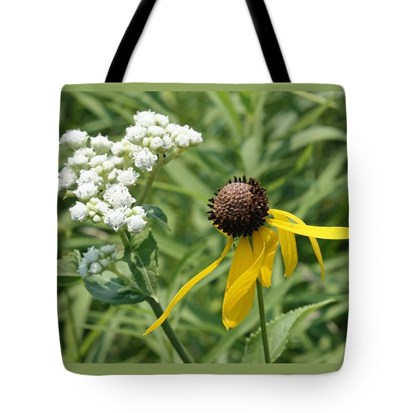 Tote Bag featuring the photograph Garden Friends by Ellen Tully