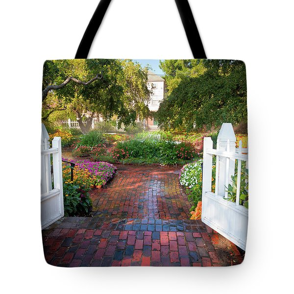 Tote Bag featuring the photograph Garden Gate by Susan Cole Kelly