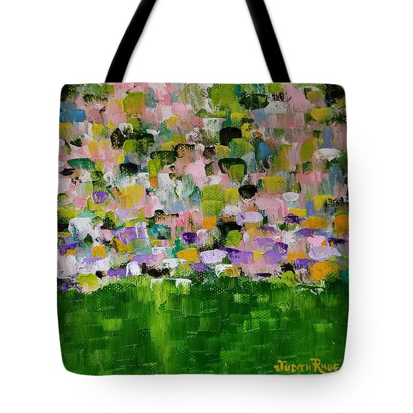 Tote Bag featuring the painting Garden Glory by Judith Rhue