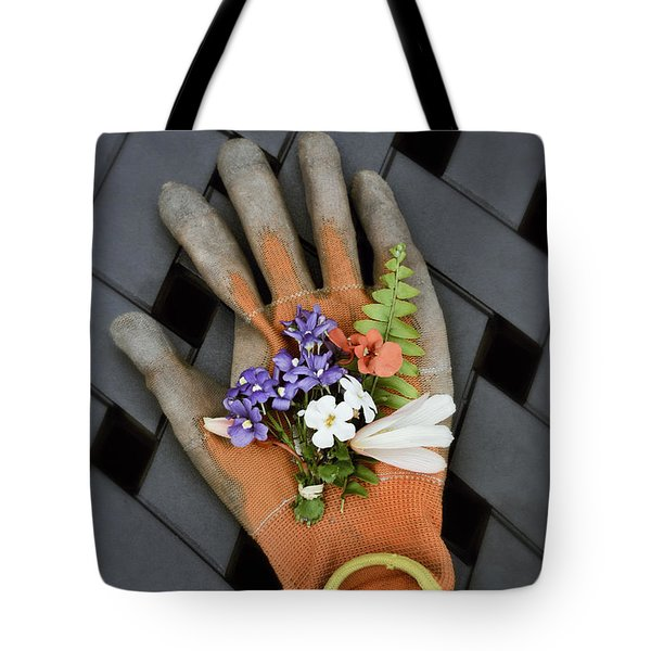 Garden Glove And Flower Blossoms3 Tote Bag