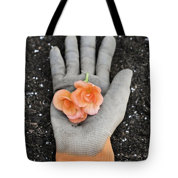 Garden Glove And Flower Blossoms4 Tote Bag