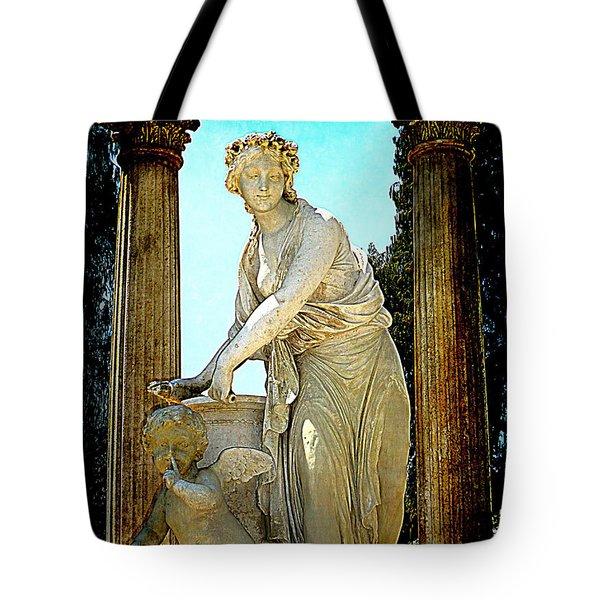 Tote Bag featuring the photograph Garden Goddess by Lori Seaman