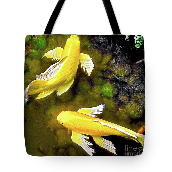 Garden Goldenfish Tote Bag