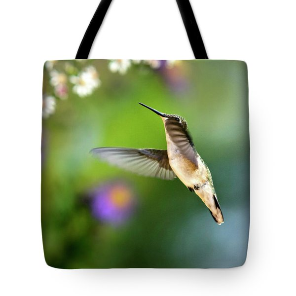 Garden Hummingbird Tote Bag by Christina Rollo