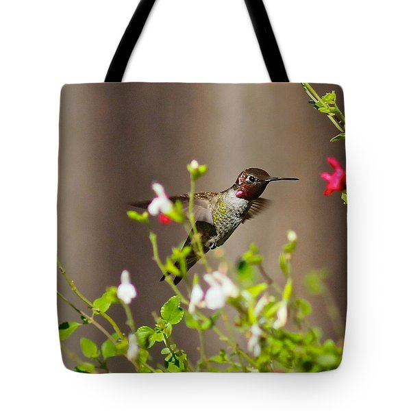 Garden Hummingbird Tote Bag