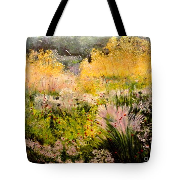 Garden In Northern Light Tote Bag