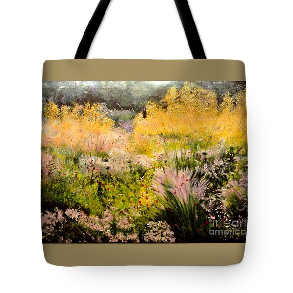 Garden In Northern Light Tote Bag