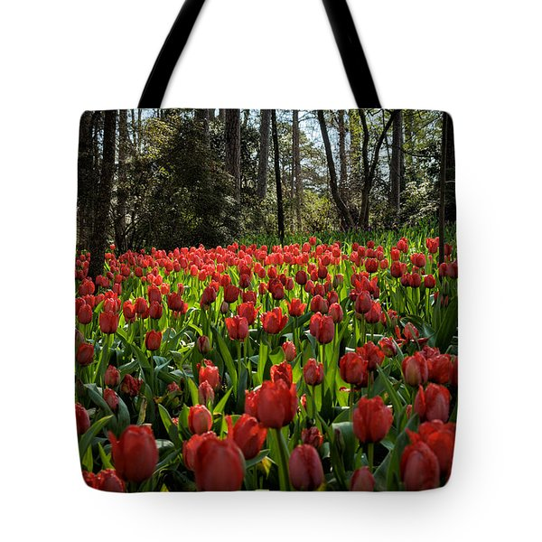 Garden In Red Tote Bag