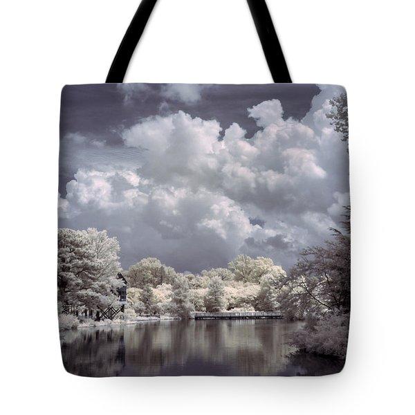 Garden Lake In Infrared Tote Bag