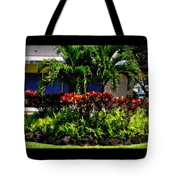 Garden Landscape 4 In Abstract Tote Bag
