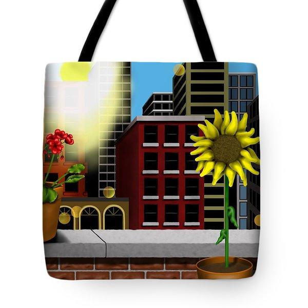 Garden Landscape II - Across The Urban Jungle Tote Bag