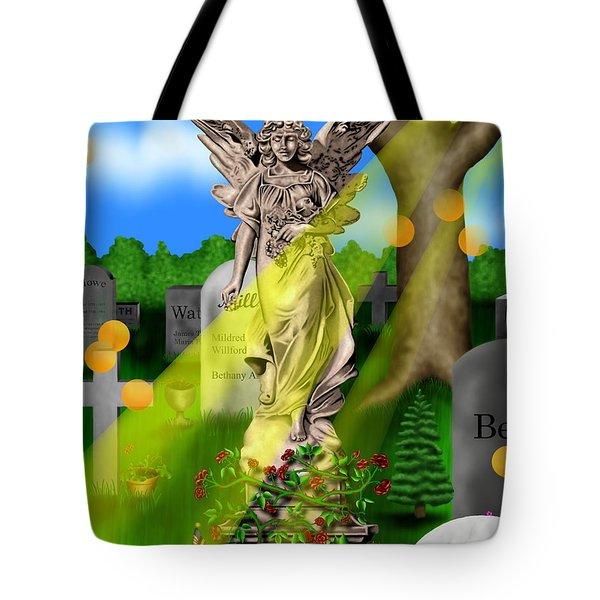 Garden Landscape IIi A - Where The Dead Sleep Tote Bag