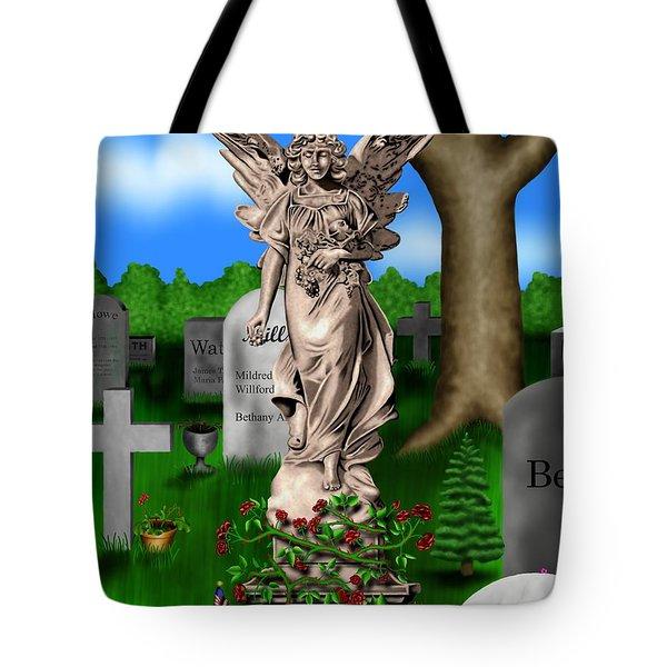 Garden Landscape IIi B - Where The Dead Sleep Tote Bag