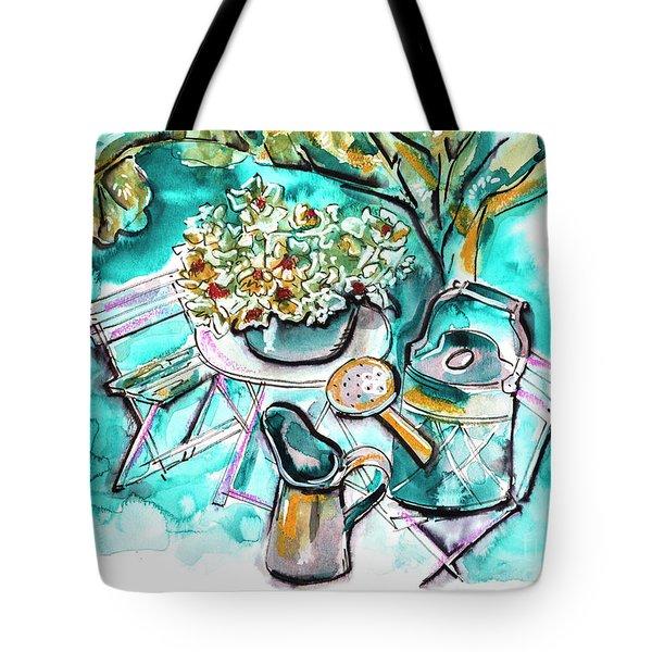Garden Life Illustration Tote Bag