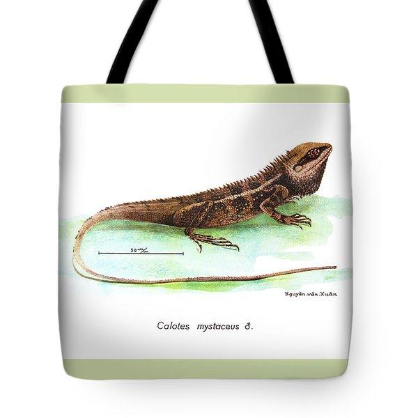 Garden Lizard Tote Bag