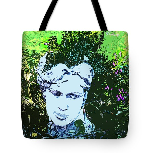 Garden Nymph Head Planter Tote Bag