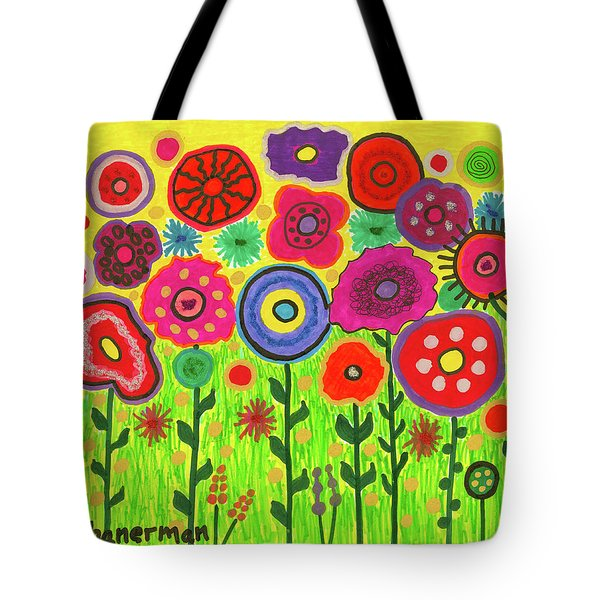 Garden Of Blooming Brilliance Tote Bag