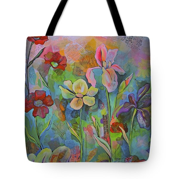 Garden Of Intention - Triptych Center Panel Tote Bag by Shadia Derbyshire
