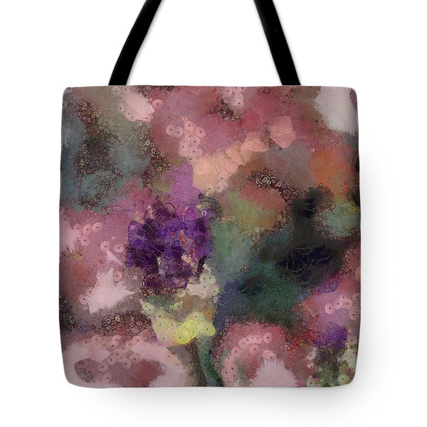 Tote Bag featuring the mixed media Garden Of Love by Trish Tritz