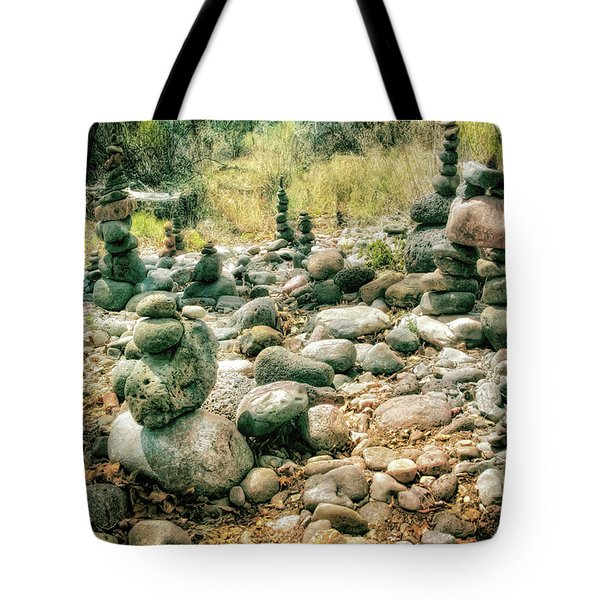 Garden Of Rock Cairns At Buddha Beach - Sedona Tote Bag