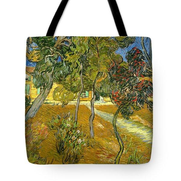 Garden Of Saint Paul's Hospital Tote Bag by Vincent van Gogh