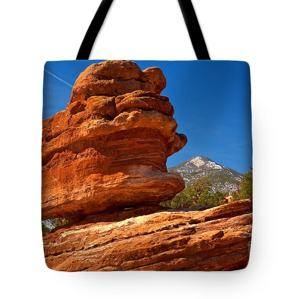 Tote Bag featuring the photograph Garden Of The Gods Balanced Rock by Adam Jewell