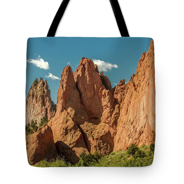 Tote Bag featuring the photograph Garden Of The Gods by Bill Gallagher