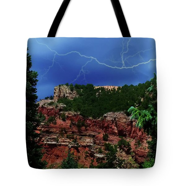 Tote Bag featuring the digital art Garden Of The Gods by Chris Flees