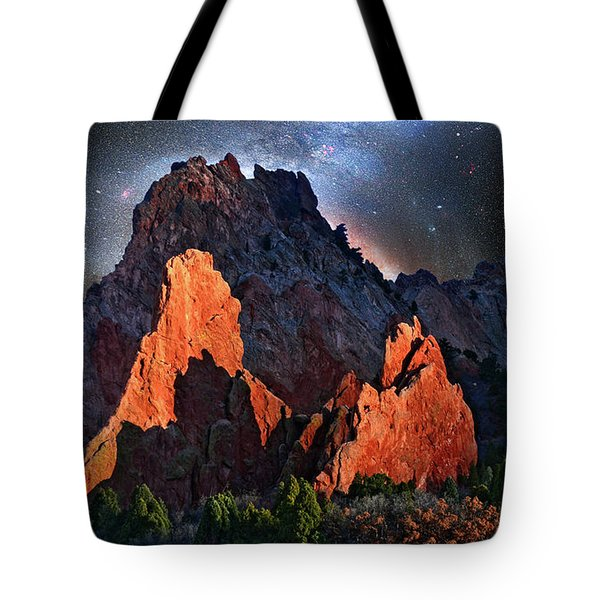 Garden Of The Gods Fantasy Art Tote Bag by John Hoffman