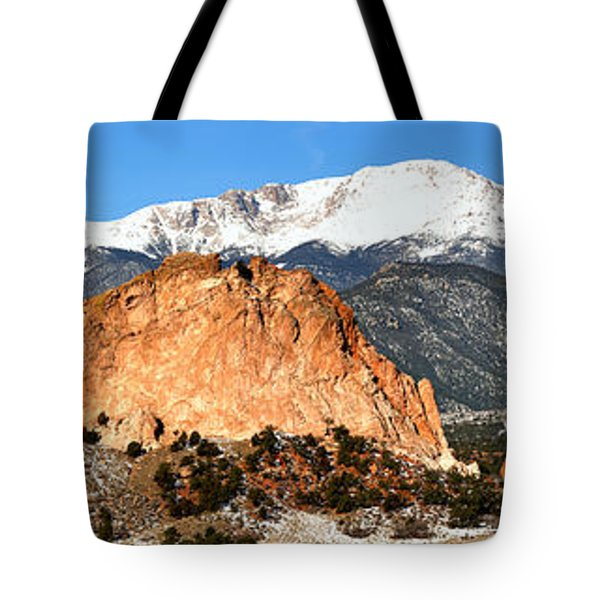 Tote Bag featuring the photograph Garden Of The Gods Medium Panorama by Adam Jewell
