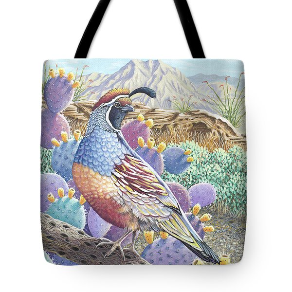Garden Of The Quail Tote Bag