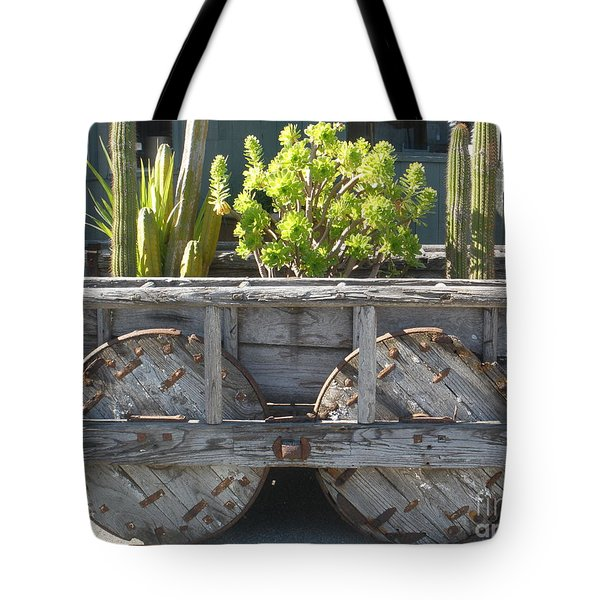Garden On Wheels Tote Bag